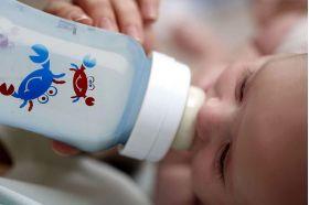 Бутылочка для кормления голубая Крабы 1шт. (полипропилен) SCF573/14 80036