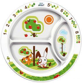 Тарелка с разделителями для порций Avent (от 12 мес.) SCF702/00 65610
